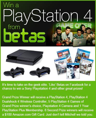 amazon betas playstation 4 giveaway enter online sweeps - Amazon Ps4 Giveaway