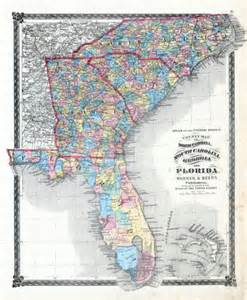 1876 county map of carolina south carolina