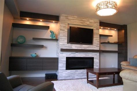 linear fireplace with tv above search fireplace