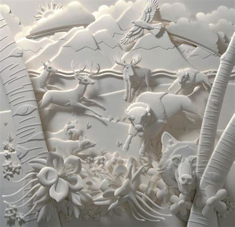 Paper Artists - amazing 3d paper sculpture by jeff nishinaka design swan