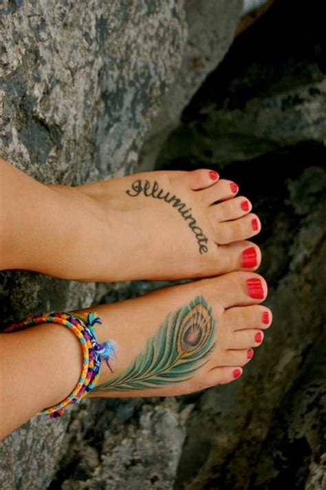 feather tattoo on your foot feather tattoo design on foot cute foot tattoos ankle