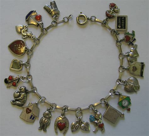 vintage and charms antique deco german 800 silver enamel charm