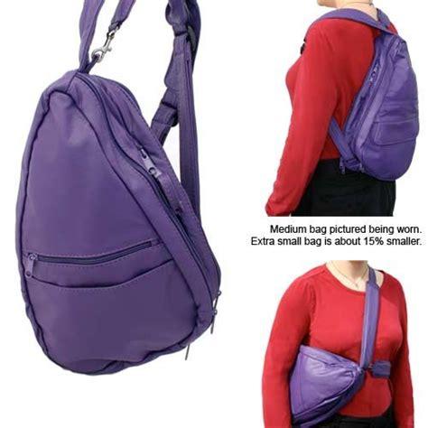 Sling Bag Kanvas Purple Tribal small travel backpack backpacks eru