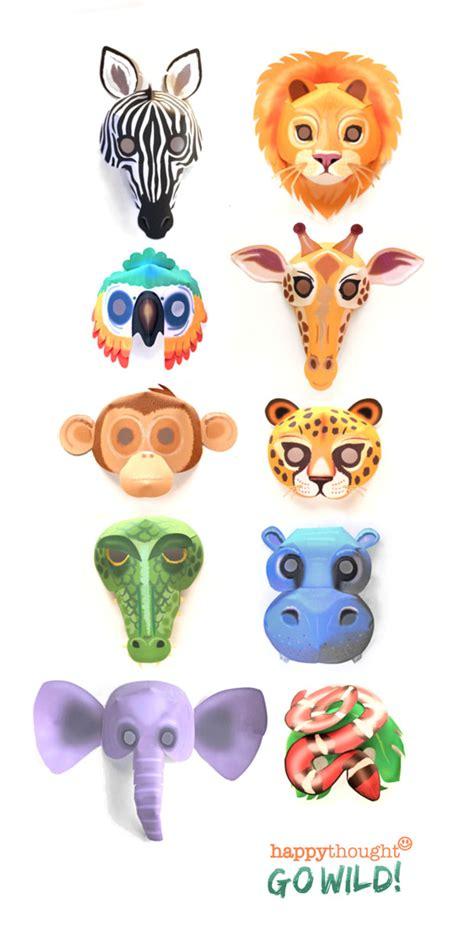 easy printable animal masks printable wild animal masks download easy to make mask