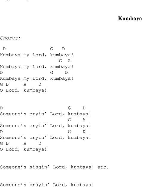 Kumbaya Guitar Chords