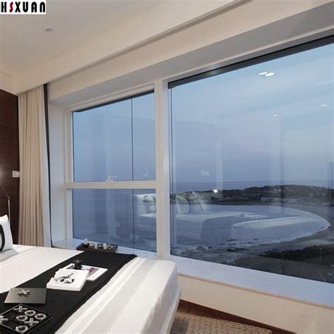 Transparent Window Solar Film 90x100cm Silver Reflective Tinted Sliding Glass Doors