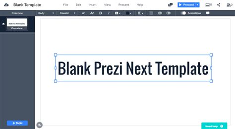 How To Choose A Template On Prezi Next Blank Prezi Next Template Prezibase