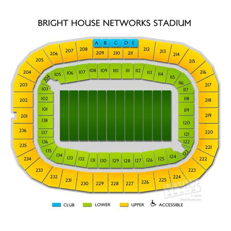 bright house network stadium bright house networks stadium map images