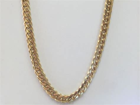 cadenas cubanas 14k cadena cubana 14k jewelry accessories in miami fl