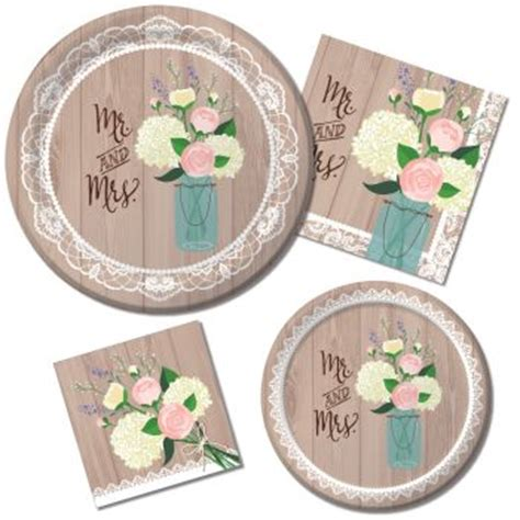 theme bridal shower plates and napkins rustic wedding special events supply store in ak