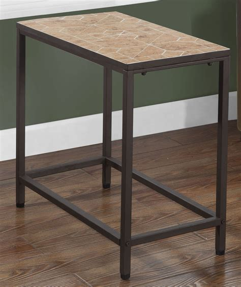 rectangular accent tables terracotta tile top rectangular accent table from monarch