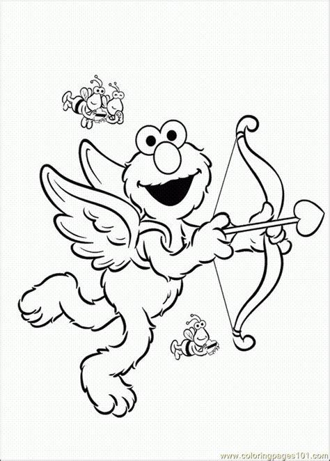 elmo valentine coloring page elmo free coloring pages az coloring pages