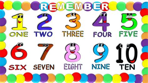 decorados in english numbers in english 1 to 10 for children new numeros en