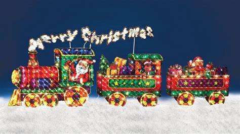 christmas outdoor halogrphic train decoration outdoor decoration foter