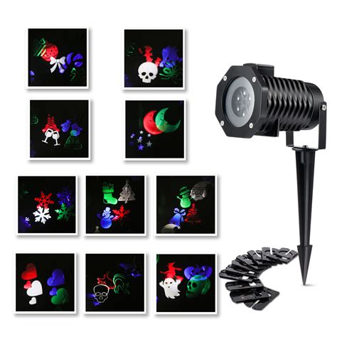 rotating christmas light projector rotating led projection colorful lights mood l for