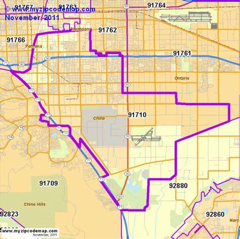 california map chino zip code map of 91710 demographic profile residential