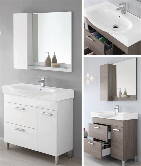 mensole profondità 40 cm mobile arredo bagno zoe cm 90 lavabo ceramica specchiera