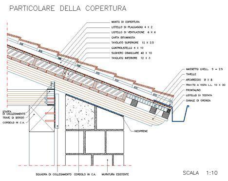 tetto a padiglione dwg tetti in legno dwg roof dwg particolari costruttivi in