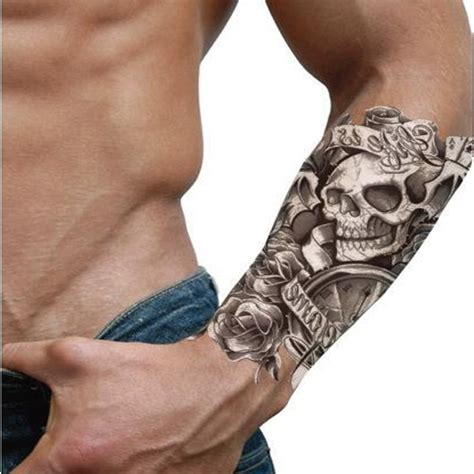 tattoo games free temporary waterproof skull sticker is