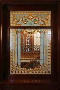 Leaded Glass Kitchen Cabinets stained glass interiors eclectic toronto by casa