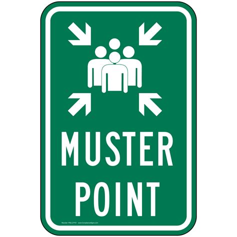 Muster Point Muster Point Sign Pke 27751 Emergency Response Rescue