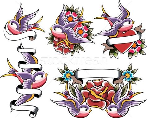 tattoo flash birds 40 scroll ribbon tattoo designs and images
