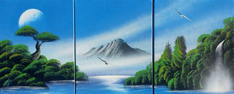 spray paint advanced nature amazing spray paint mountain and trees on canvas