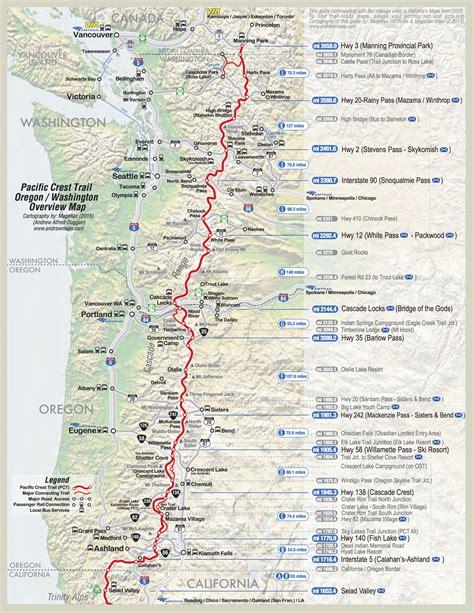 pct oregon map detailed pct maps derek caitlin s 2015 pacific crest
