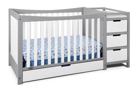 graco changing table pebble gray amazon com graco remi 4 in 1 convertible crib and