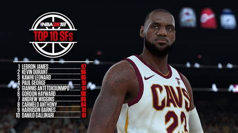 Top Sf top ten players overall by position in nba 2k18 nlsc