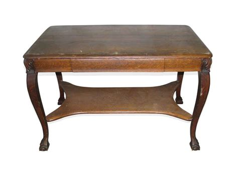 Antique Tiger Oak Desk by Antique Tiger Oak Table Or Desk With Cabriole Legs Olde
