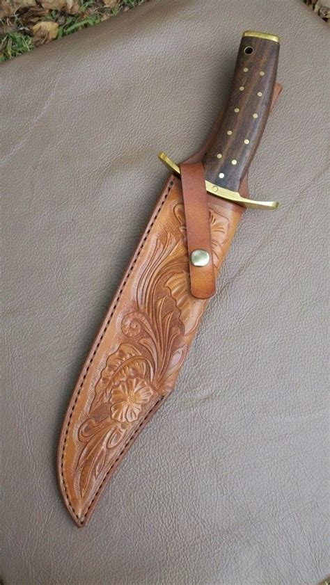 Handmade Knife Sheaths - crafted custom sheath for large custom knife by alamo