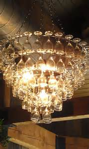Wine Glass Chandeliers The Art Of Up Cycling Wine Glass Chandeliers Funky Cool