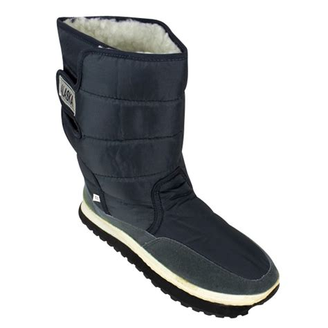 mens thermal boots new mens shearling snow quilted thermal warm winter boot