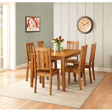 better homes and gardens bankston dining table honey