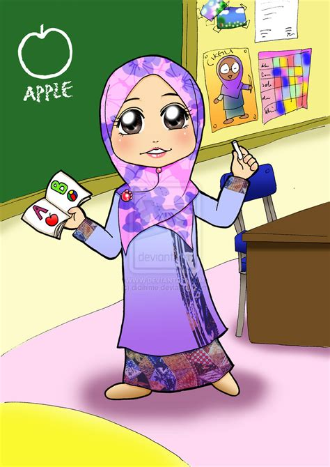 gambar guru sedang mengajar kartun gambar guru sedang