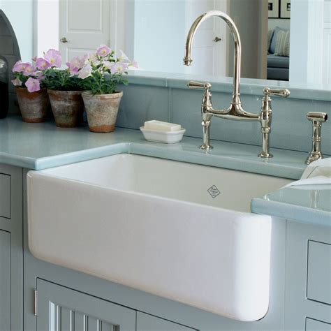 Kitchens With Farm Sinks Blue Bath Farmhouse Kitchen Sinks Quicua