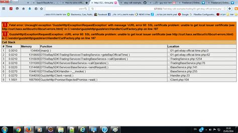ebay api ebay api php sdk getting curl error 60 ssl certificate