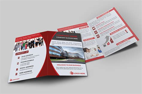 Corporate Bi Fold Brochure V 1 Brochure Templates On Creative Market Bi Fold Template