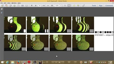 structured light scanning tutorial cvfx lecture 24 structured light scanning youtube