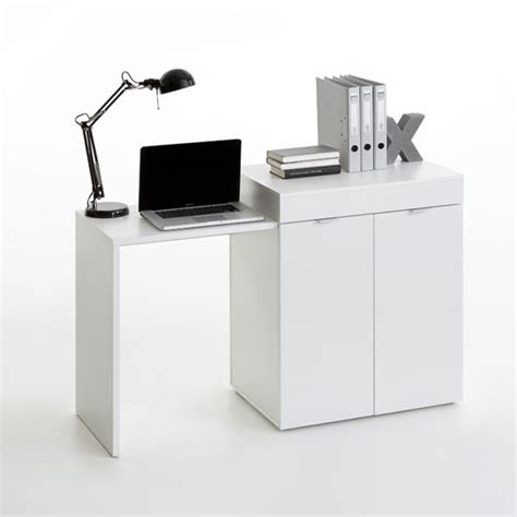 extendable desk multifunction computer desk in white with extendable table