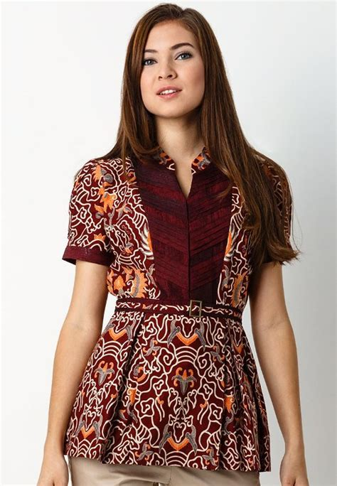 Baju Kemeja Anak Anak Batik Modern Baju Atasan Anak Anak model baju atasan batik wanita modern dan kantoran
