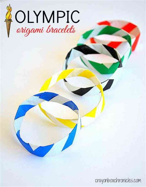 Origami Bracelets - diy olympic origami bracelets all for the boys