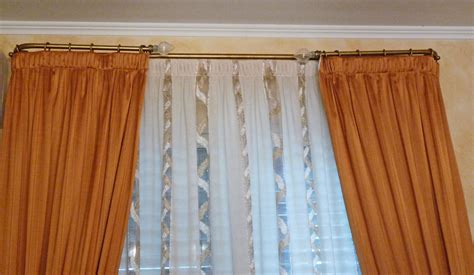 bastoni doppi per tende supporto tende a soffitto design casa creativa e mobili