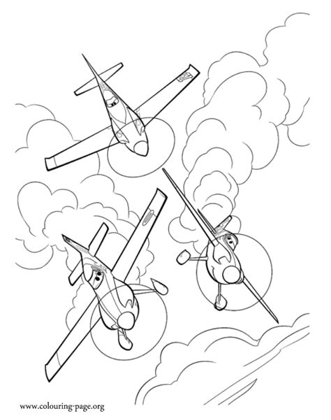 planes ripslinger ned and zed coloring page