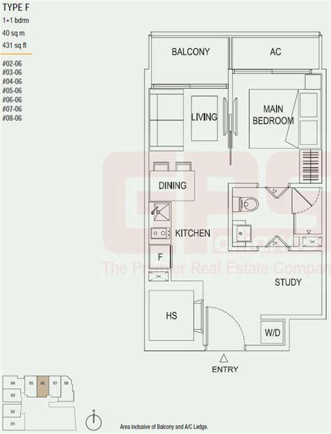 40 sqm to sqft the octet floor plan singapore condo for sale
