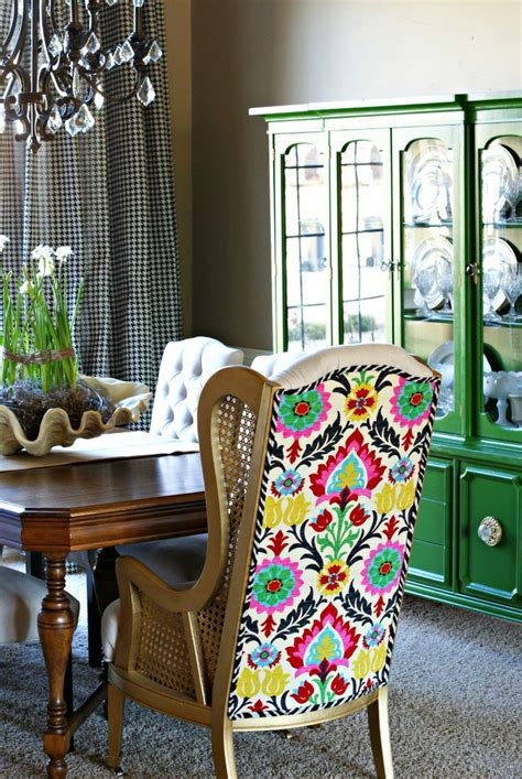 Green Dining Room Furniture That Amazing Fabric Plus Emerald Green Hutch In Background Plus Black And White Check
