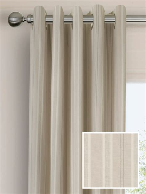 large eyelet curtains ready made pencil pleat curtains in iona natural curtain
