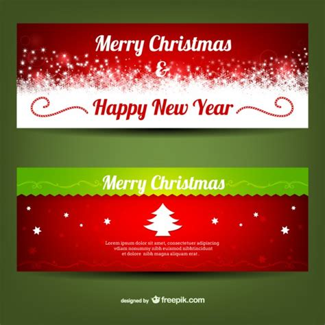 merry christmas banner templates vector