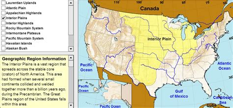interactive map of usa regions interactive map of united states geographic regions of